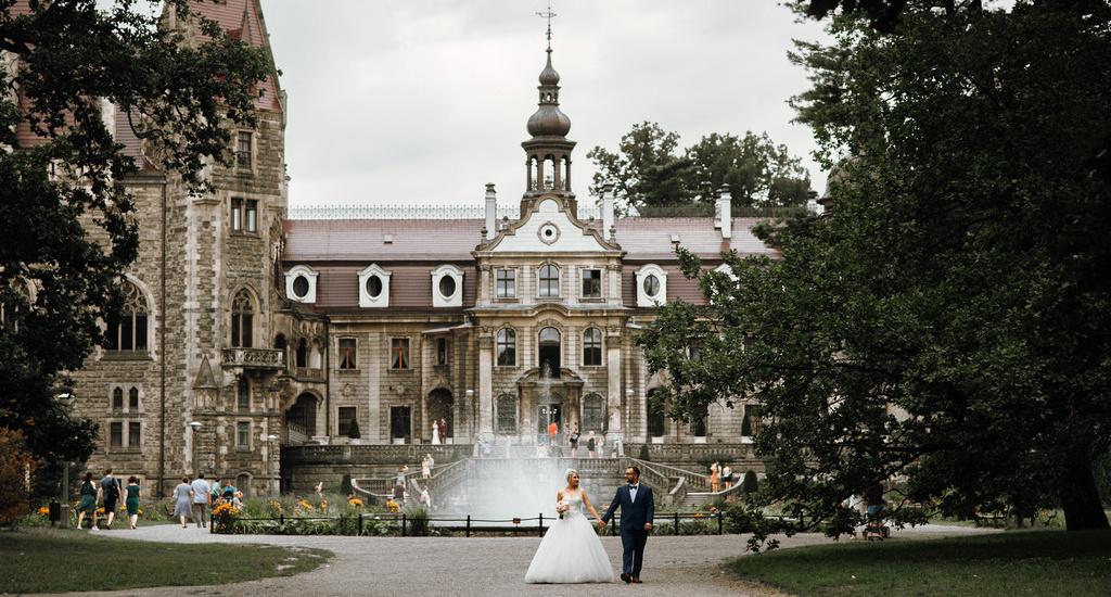 Ślub Martyny i Michała plener Moszna